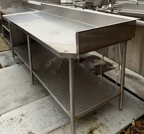 stainless steel work table, stainless steel work table w/ back splash, stainless worktable