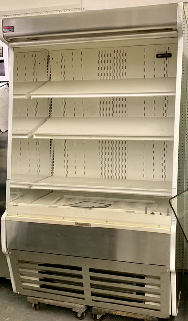 "USED Structural Concepts Self-Service Refrigerated Case, 47-1/4""W, 79-3/4""H, self-contained refrigeration system, non-lit adjustable metal shelves. 115/230V."