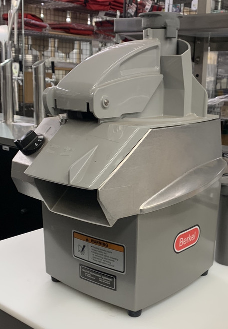 NEW BERKEL CC34/2 FOOD PROCESSOR. SLICING AND SHREDDING PLATES. CONTINUOUS CHUTE.