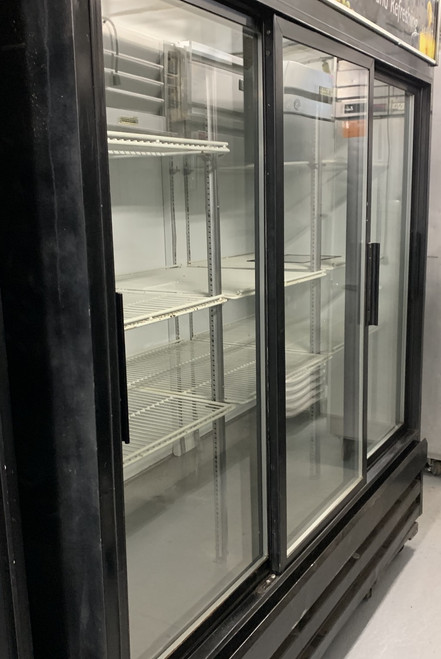 USED BEVERAGE AIR 3 sliding door cooler, MT-66.