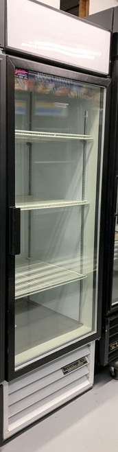 USED BEVERAGE AIR MT21 SINGLE DOOR COOLER.