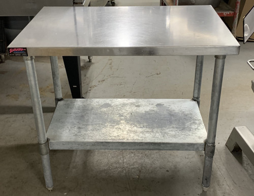 S/S TABLE W/ UNDER SHELF