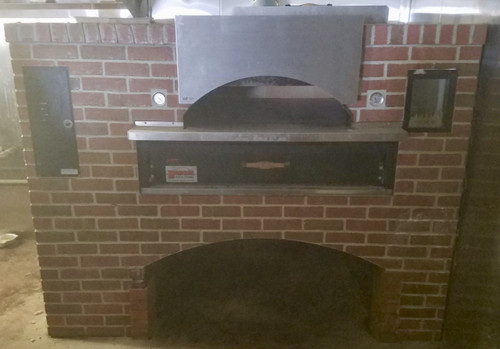 """USED MARSAL Wave Flame Oven, gas-fired, 36"""" x 54"""" wide cooking surface, 40,000 BTU side burner, wave design brick lined ceiling, front view window, stainless steel top & sides, stainless steel shelf, 155,000 BTU"""