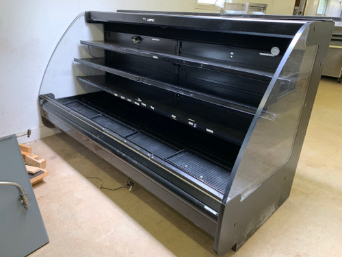 Used Remote Hussmann CZX-8XLEP open front merchandiser, 120V.  REFRIGERATION NOT INCLUDED IN PRICE
