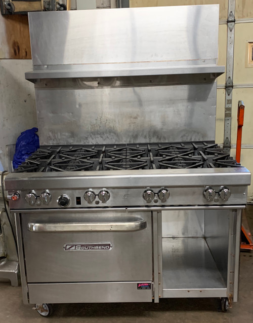 SOUTHBEND 4481AC 8 BURNER SINGLE CONVECTION OVEN -NAT GAS (JYS174)