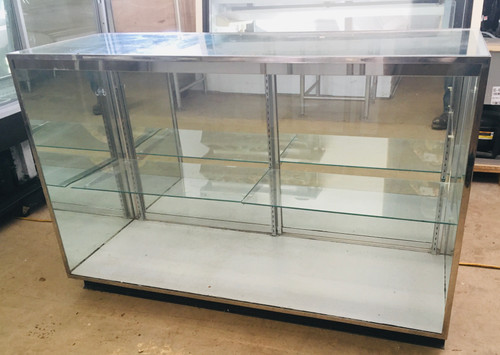 "GLASS 60""  DISPLAY CASE  - NON NSF"