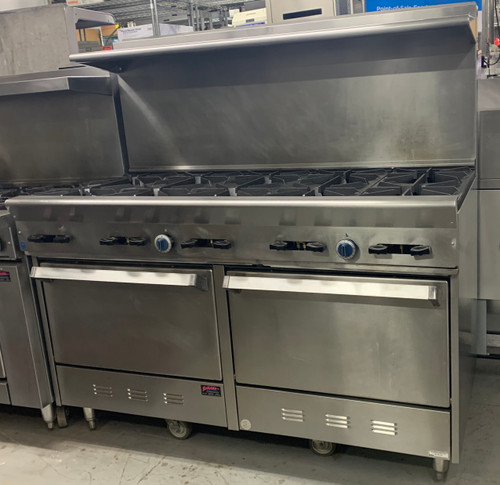 US RANGE PX-10-2626 10 BURNER RANGE, DOUBLE OVEN - NAT GAS (BFT237)