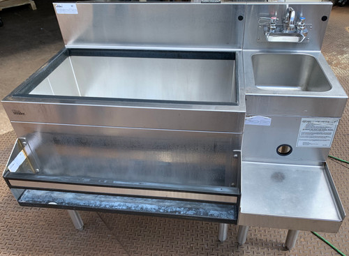 GLASTENDER IBA-30-CP10/BSA-12 UNDER BAR ICE BIN SINK COMBO