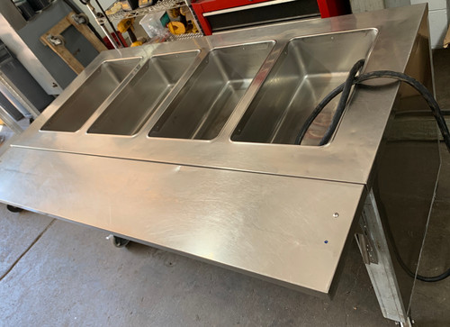used Precision 4 bay steam table, 208V/1 phase/ 18amp.
