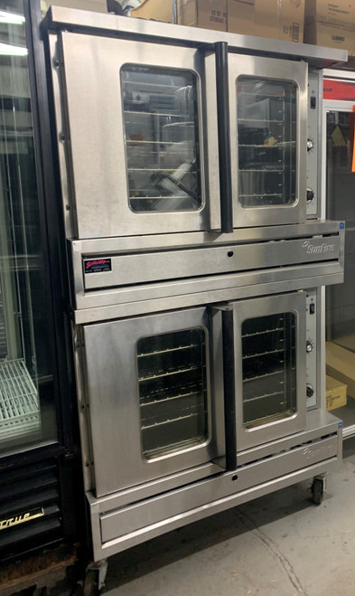 SUNFIRE SDG-1 FULL SIZE CONVECTION OVEN DOUBLE STACK - NATURAL GAS (ARU417)(ARU418)
