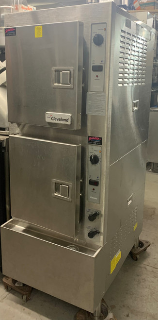 CLEVELAND 24CGA10.2 DOUBLE DOOR STEAMER - NATURAL GAS (BXU438)