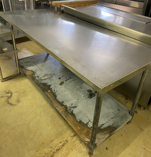 STAINLESS STEEL TABLE WITH UNDER SHELF