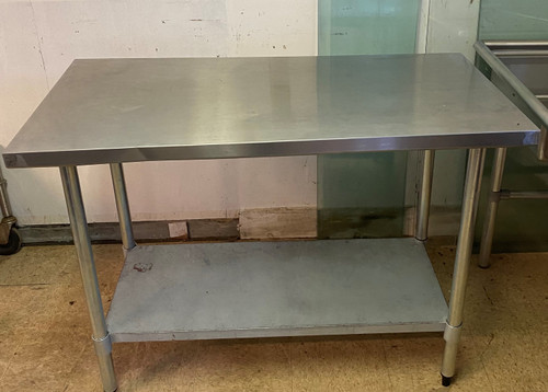 """48"""" STAINLESS STEEL TABLE WITH UNDERSHELF"""