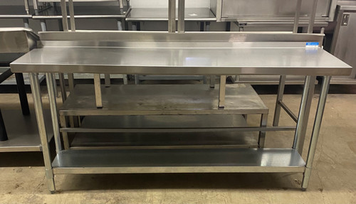 """STAINLESS STEEL TABLE 72""""X18""""X36"""