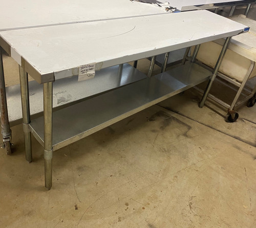 """STAINLESS STEEL TABLE 72""""X18""""X35"""""""