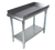 """NEW-Equipment Stand, 19""""W x 30""""D x 26""""H, front rolled edge, 3 sided 2"""" riser with hemmed edged, 18/430 stainless steel top reinforced with 1-1/2"""" square tubing, galvanized undershelf & 1-5/8"""" legs, NSF"""