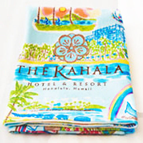 The Kahala Collage Collection Beach Towel