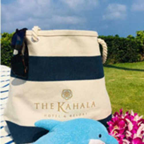 The Kahala Hotel & Resort Logo Canvas Cruising Tote