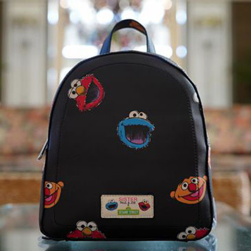 Sesame Street Black Backpack