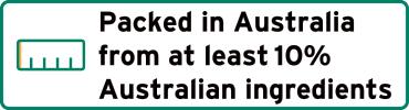 Packed in Australia