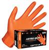 SAS Astro-grip Orange Nitrile Disposable Gloves- 7mil