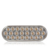 """Maxxima M63201WCL 6"""" Oval Low Profile Warning Strobe Lamp- Clear Face / 24 Amber Diodes- 8 Pattern"""