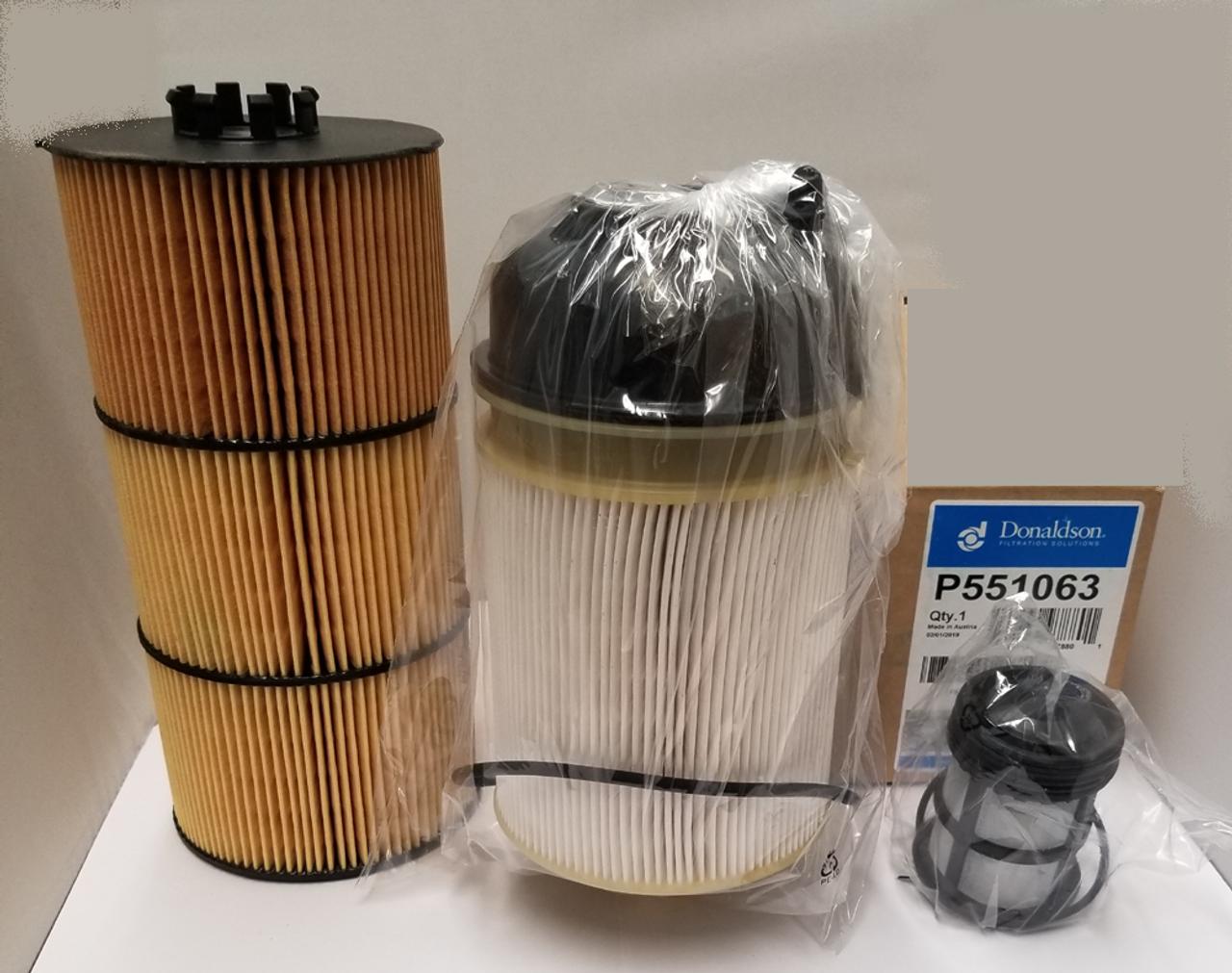 Detroit Dd13   Dd15   Dd16 Filter Kit- Oil  U0026 2 Fuel Filter Kit Donaldson