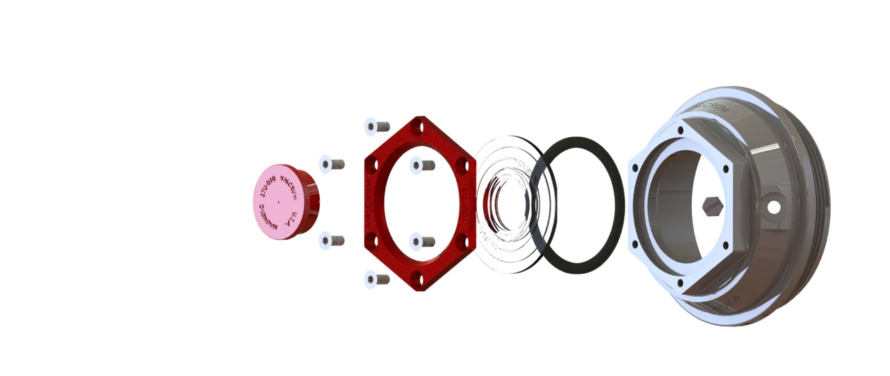 """3.5"""" Aluminum Hub Cap Replacement for Dexter 9K, 10GD, 10KGD & #13G Axles"""