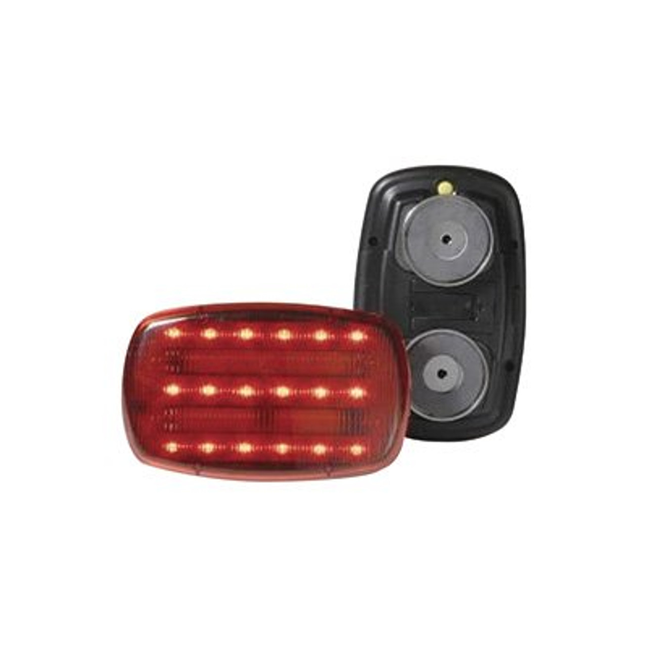 Magnetic Safety Flasher Lamp- Red- Battery Operated