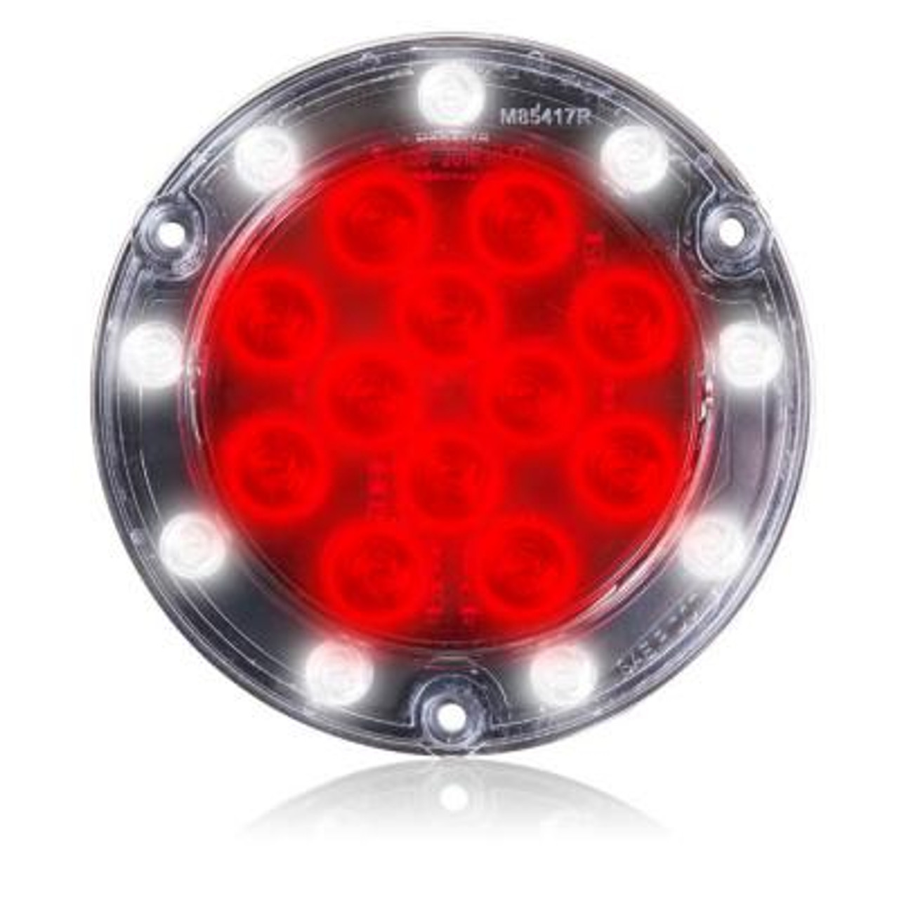 Maxxima M42324 White 4 Round LED Backup Light