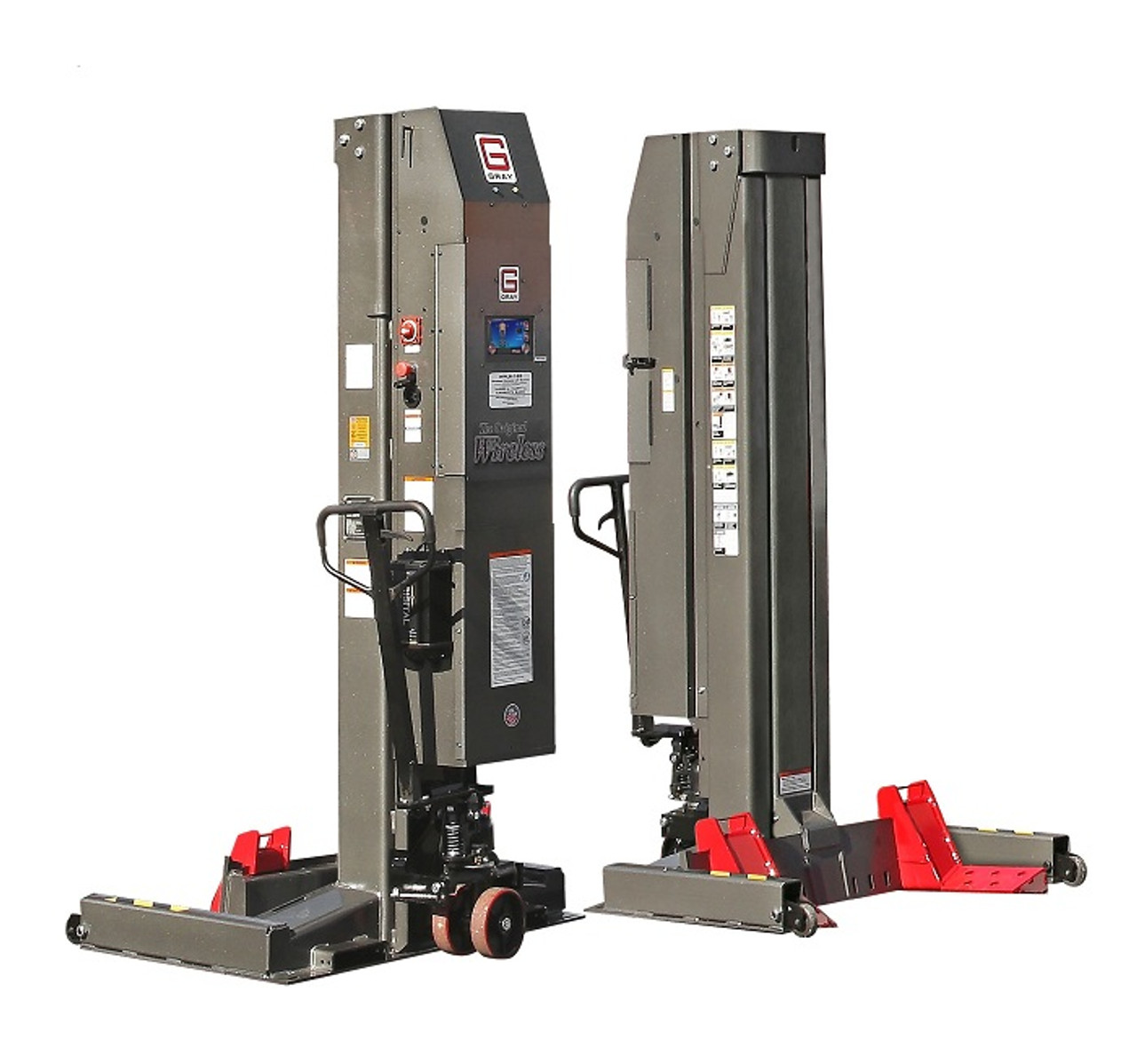 Gray WPLS-190W 19,000LB Wide Wireless Portable Lift System (1 post)  (US MADE)