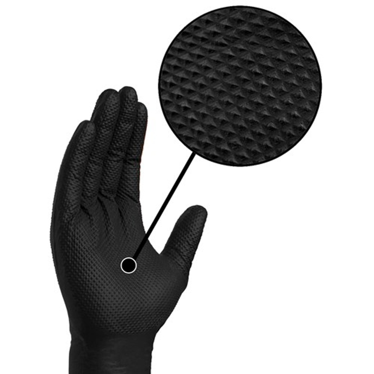 Ammex Gloveworks Black Nitrile Gloves- 100ct/box GWBN