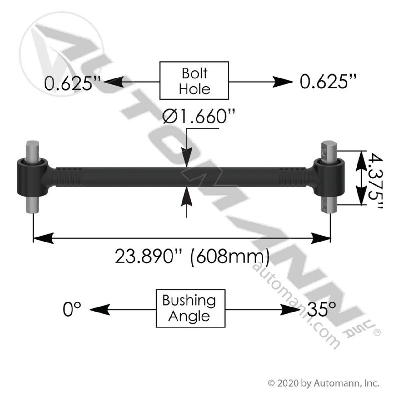 Freightliner Rear Suspension Torque Rod- replaces 16-16749-001