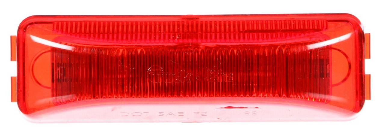 """Truck-Lite 19250R Model 19 (3 3/4"""" x 1 1/4"""" Rectangular) LED Marker / Clearance Lamp- Red- 4 Diodes"""