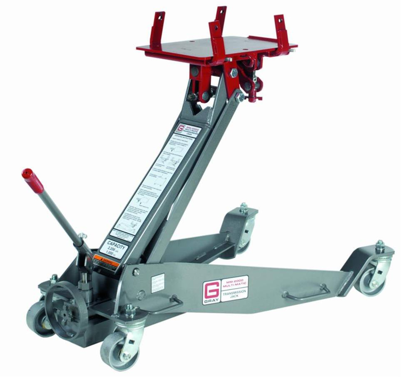 GRAY MM-2000A/HS Transmission Jack-  Air Assisted / Hydraulic w/ TCHS Adapter Kit