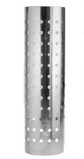 "Muffler Heat Shield- Bright Stainless- fits 10""-10.5"" Body Mufflers Large Small Holes, 180 degree wrap"