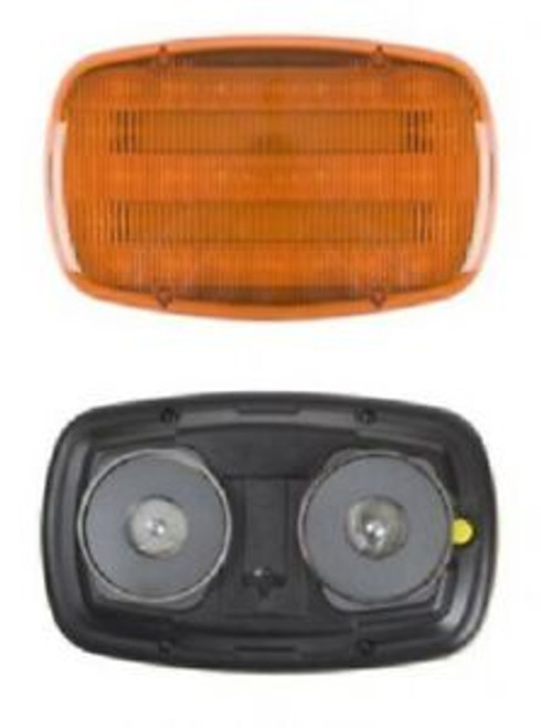 Magnetic Safety Flasher Lamp- Amber- Battery Operated
