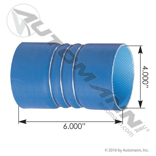 "4"" x 6"" Charge Air Cooler Hose- Cold Side"