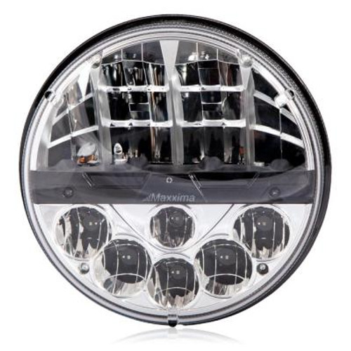 """Maxxima 7"""" Round LED Headlamp- 2Beam System, Hi/Lo Beam replacement for H6024 MHLE-07HILO"""