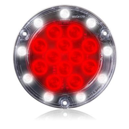 "Maxxima 4"" Round Hybrid LED Stop/Tail/Turn/Back Up Lamp- Flange Mount M85417R"