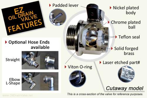 EZ Oil Drain Valve- EZ-107- 12mm-1.75 , Chevy / GMC Duramax