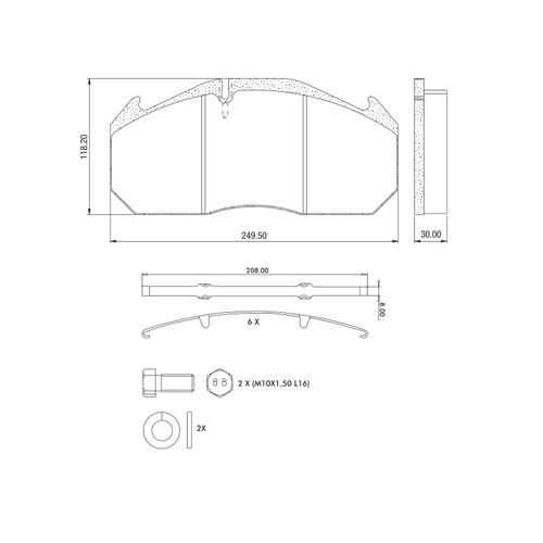 D1407 Air Disc Brake Pads for Lucas (Meritor) D3 & D-ELSA I Systems