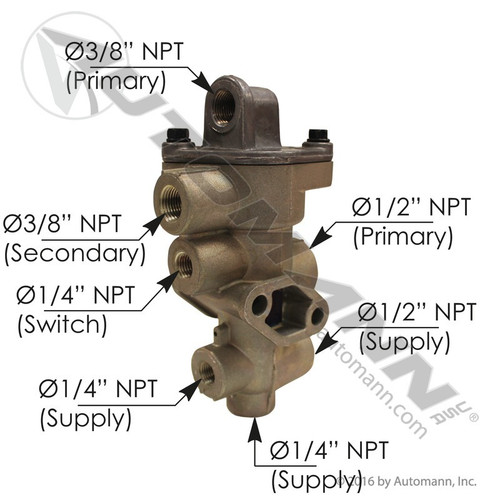 Tractor Protection Valve (Bendix TP-3DC style)- replace 065706