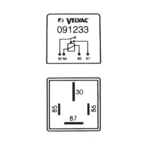 Velvac Heavy Duty Relay- 4 pin 091233 (SO)