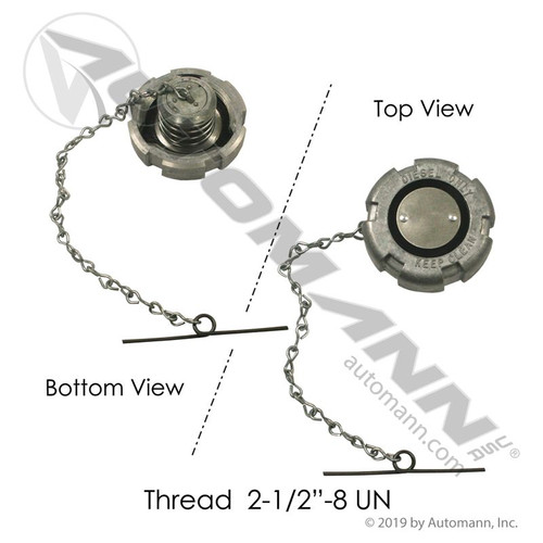 "2.5"" Fuel Cap- Female Thread"