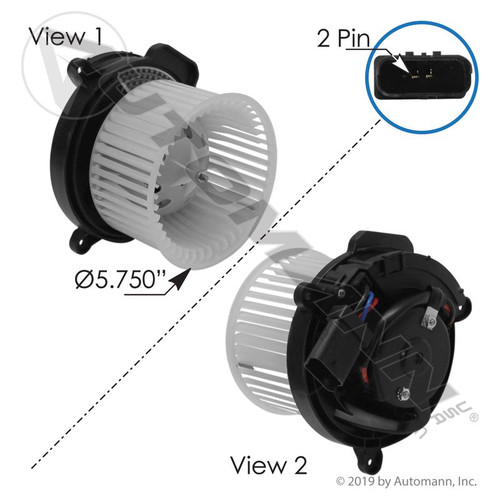 Blower Motor- Freightliner M2 / Cascadia- Behr- Replaces T77421A/2C