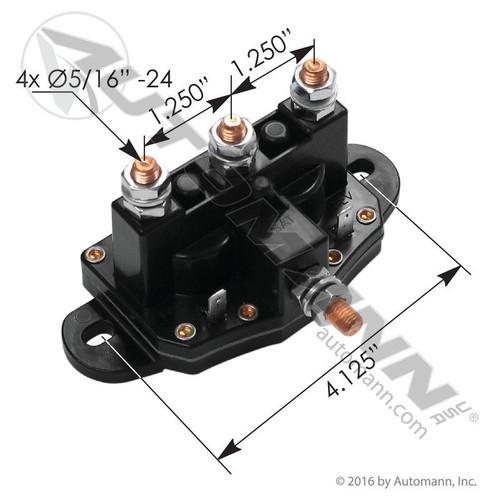 Motor Reversing Solenoid- 12V- replaces 24450BX