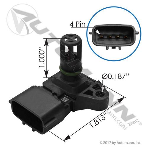 Cummins Intake Air Temp / Pressure (Boost) Sensor- replaces 2897334