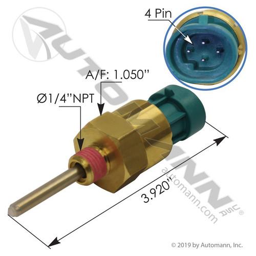 Cummins Coolant Level Sensor- replaces 4383932 / 1673785C92