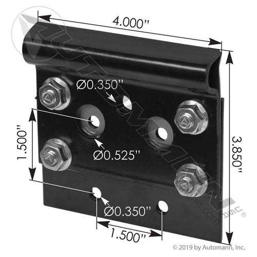 Whiting 5600 Bottom Roller Bracket- Black